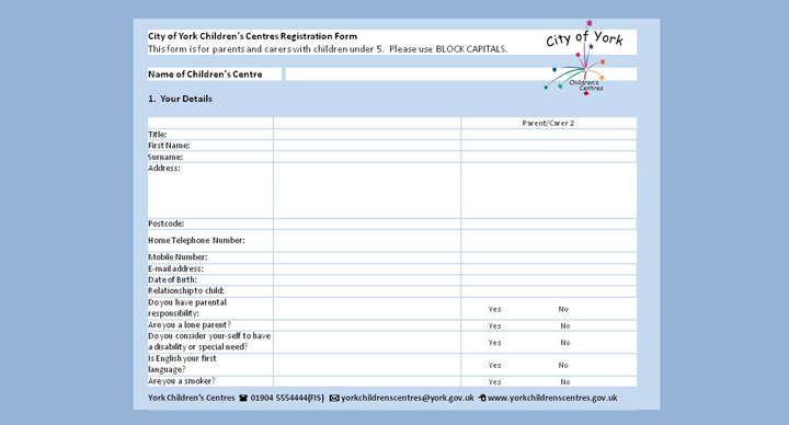 720 Childrens Centres Registration