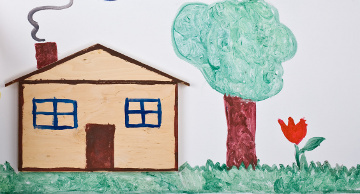 child drawing of house360